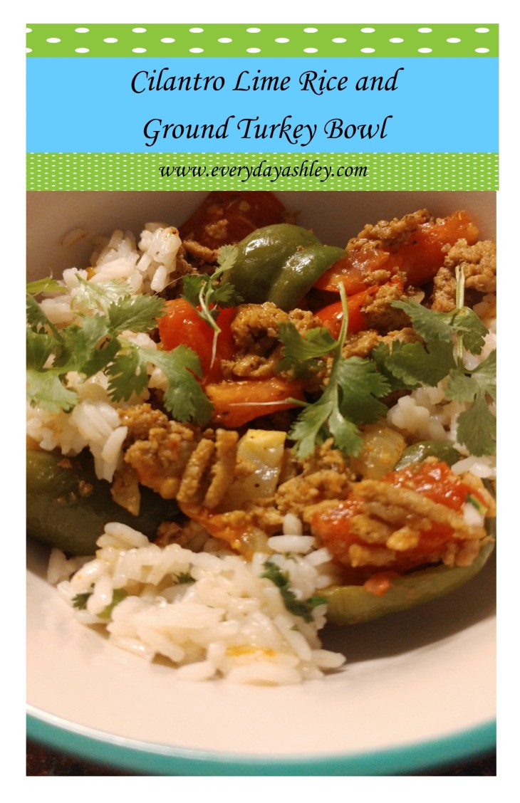 Cilantro Lime Rice Ground Turkey Bowl pin